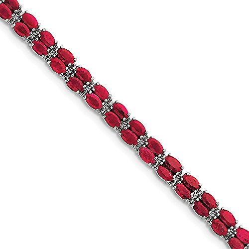 Sterling Silver Ruby Bracelet by CoutureJewelers