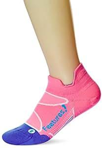 Feetures! Elite Ultra Light No Snow Tab Sock - Electric Pink/Hawaiian Blue Large