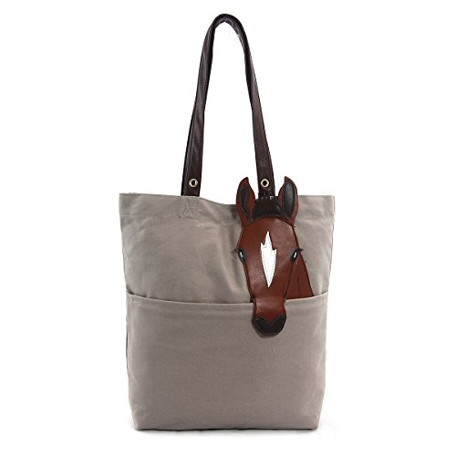 Horse Tote Bag - Sleepyville Critters Chestnut Horse Tote Bag On Canvas