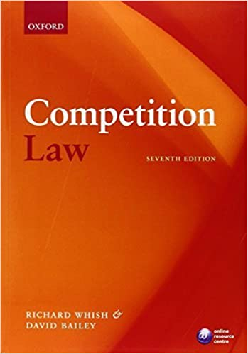 Book Competition Law by Richard Whish (2012-03-21)