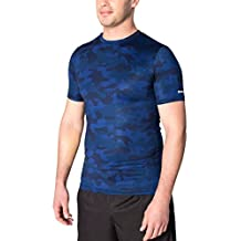 RBX Active Men's Camo Printed Short Sleeve Compression T-Shirt