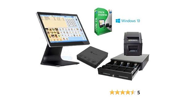TPV táctil Completo + cajón + Impresora 80mm + Software Itactil: Amazon.es: Informática