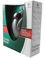 Logitech Trackman Marble USB Wired Mouse - Black