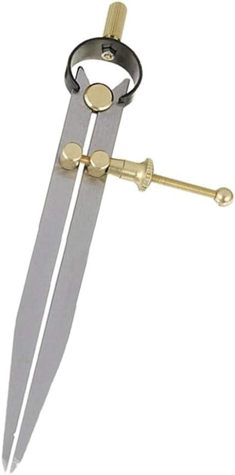 100 mm F Fityle Abschlie/ßbare Markierung Zirkel Kreis Leder Kratzer Zirkel Maker Abrei/ßer Markierung Fl/ügel Divider Justierbar