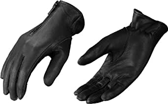 Small Black Ladies Leather Motorcycle Gloves