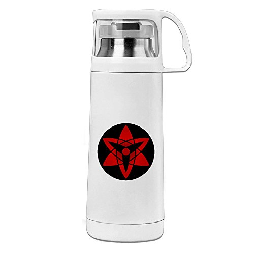 VOLTE Manngekyou Sharingan Eyes Japanese Comic Naruto Shippuden Portable Stainless Steel Thermos Cup Perfect For Running Keep Water Warm Or Cold 8 Hours 14 Ounces