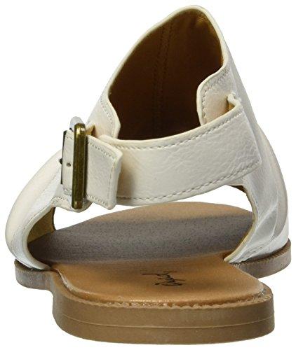 Women's Qupid Mule White Flat Sandal qd1adH