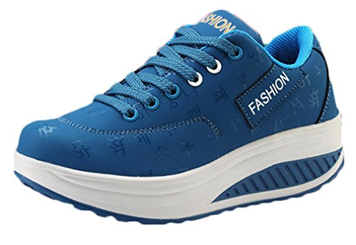 de zapatos atléticos de deportes de Las los zapatos señoras los para los los Azul amaestradores funcionan gimnasio atan que NEWZCERS arriba xqFTCwB4X