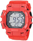 Armitron Men's 40/8298RED Sport Metallic Black Accented Red Resin Strap Chronograph Digital Sport Watch, Watch Central
