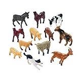 Fun Express - Farm Animal Miniature Toy Figures (12 Pieces)