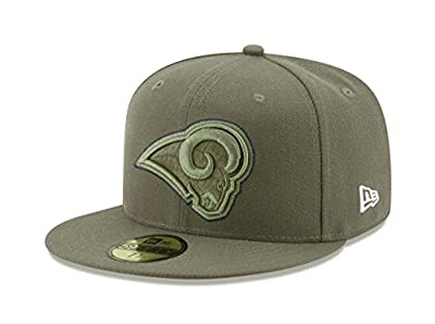 New Era 59Fifty Hat Los Angeles Rams NFL On-field Salute to Service Fitted Cap