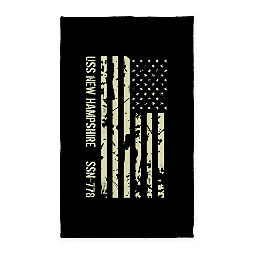 CafePress - USS New Hampshire - Decorative Area Rug, Fabric Throw Rug (Hampshire New Rugs)