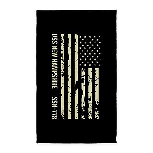 CafePress - USS New Hampshire - Decorative Area Rug, Fabric Throw Rug (New Rugs Hampshire)