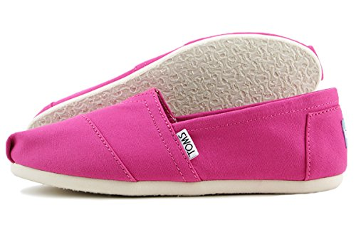 TOMS Classic Fuchsia Canvas Alpargata Shoes 8 B(M) US Women