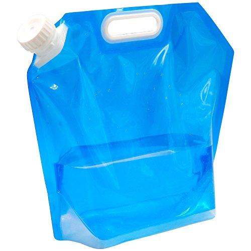 TRIXES 5 Liter faltbarer Wasserbeutel Trinkblase Camping Wasser Behälter