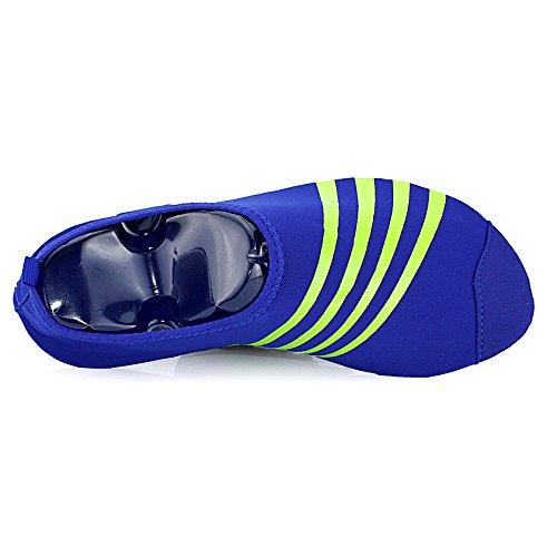 Schnell trocknende Aqua-Wasser-Schuhe Santiro Frauen-Männer für Strand-Pool-Brandungs-Yoga-Übung Blau 2