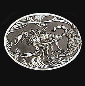 (Pewter Belt Buckle - Scorpion (Diamond Cut) - Pewter Belt Buckle)