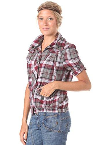 Vans Culture Women Camisa Check Rojo Camiseta Mujer Ls De rtrwqPU