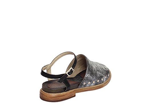 2 1TATO102 COLLI DEI FABBRICA Heel Black cm Sandal Leather MOD Women's O6ccvWU8