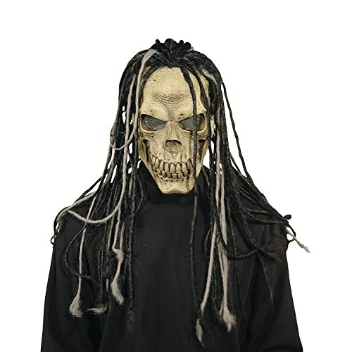 (Fun Express - Dead Dread Mask W/Hair for Halloween - Apparel Accessories - Costume Accessories - Masks - Halloween - 1)