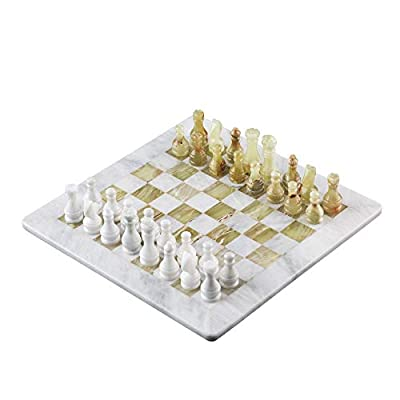 """Marble Chess Set - 16"""" by 16"""" 
