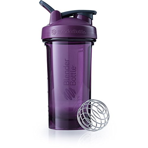 BlenderBottle Pro Series Shaker Bottle, 24-Ounce, Plum (Thrive Blender Bottle)