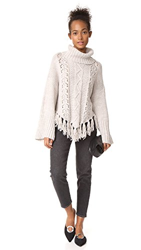 cupcakes and cashmere Women's Prilla Cable Knit Sweater, Latte, X-Small by cupcakes and cashmere (Image #4)