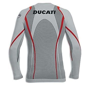Ducati Cool Down lang/ärmliges T-Shirt ohne N/ähte grau Gr/ö/ße M-L