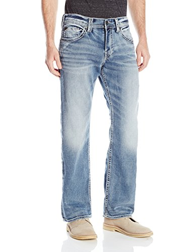 Silver Jeans Men's Zac Joga Relaxed Fit Straight Leg, Blue, 32x32