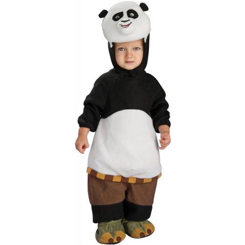 Rubie's Costume Kung Fu Panda Romper And Head Piece Po  Po Print  0-9 Months (12 to 17 Pounds)