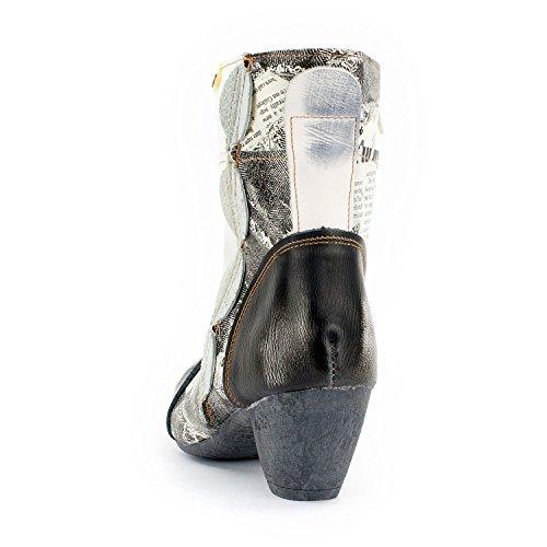 Tma Anima Signore Sguardo Ankle Boots, In Pelle Vera, Varianti Di Colore, Dimensioni 36-42 / 43 Bianco-nero