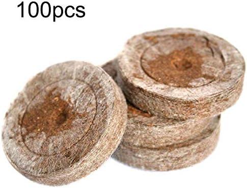 kgjsdf 100 Stück Setzling-Bodenblöcke, 3 cm Kompressions-Nährstoffblöcke, mittlere Setzlingschale, für Zimmerpflanzen, Blumen, Samen