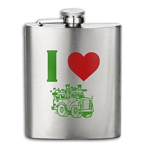 I Heart Love Trash Garbage Trucks Flasks Stainless Steel Liquor Flagon Retro Rum Whiskey AlcoholPocket Flask Liquor Flagon Retro Rum Whiskey Flask Great Gift 6OZ Lightweight