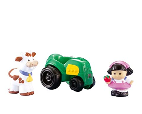 Fisher-Price Little People Sonya Lee with Tractor and Cow Set (Little People Sonya Lee)