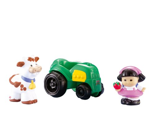 Fisher-Price Little People Sonya Lee with Tractor and Cow Set (The Tractor People)