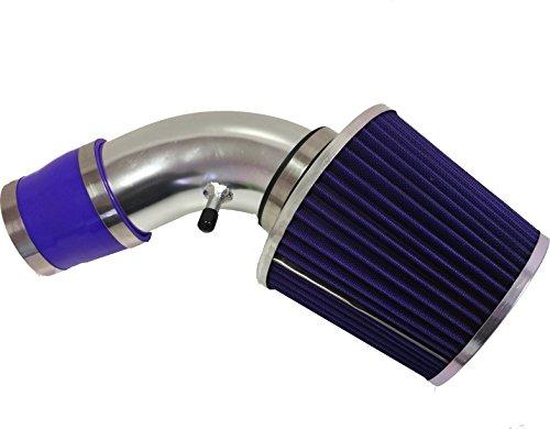 2002 2003 Chevy Trailblazer GMC Envoy Bravada 4.2L 6cyl Air Intake Filter Kit System (Blue Filter & Accessories) -