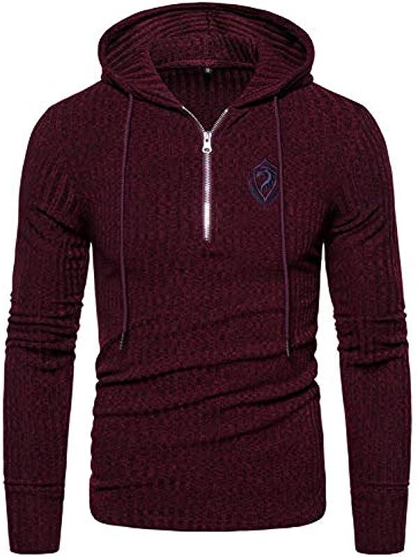 Eagle Embroidery Hooded Pullover Męskie Zipper Sweater Hip Hop Męskie Sweatshirts Strickpullover: Küche & Haushalt