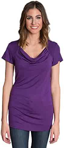 407a9867a8273 Udderly Hot Mama Chic Cowl Soft Drape Nursing and Pumping Top - Stylish,  Simple and