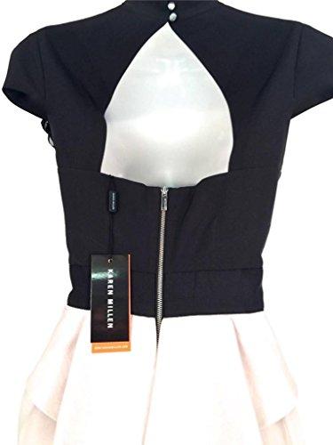 Karen Millen Robe Arc Construit, Beige Noir