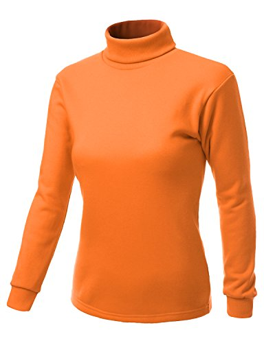 Double layer Turtleneck T-shirt ORANGE Size S