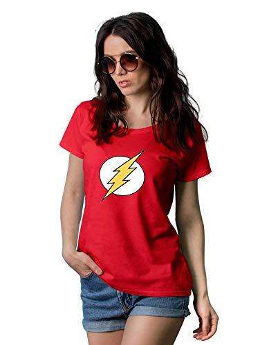 Decrum Red Yellow Logo T Shirt Women - Merchandise, -