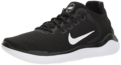 Nike Women's Free RN 2018 Running Shoe Black/White Size 9 M US (Womens Nike Id)
