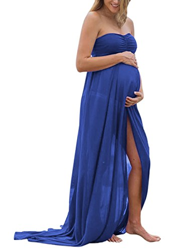 a47d741def5 MissQee Maternity Dress Off Shoulder Chiffon Maxi Photography Dress for  Photo Shoot