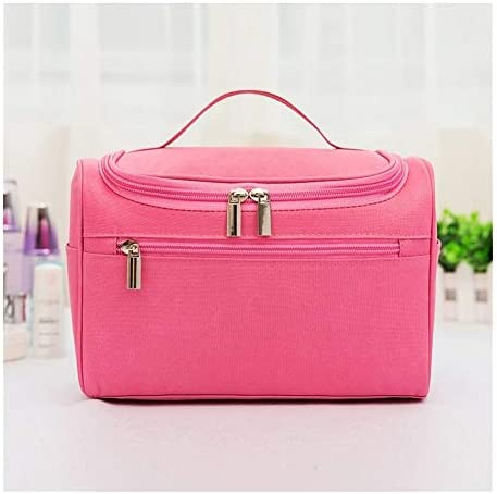 YouNITE 女性の防水化粧バッグトラベルオーガナイザーポーチユニセックス化粧品袋ぶら下げトイレ洗濯トイレタリーキット保存袋 (Color : Pink)
