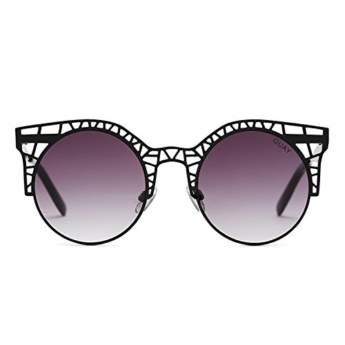 Quay Australia FLEUR Women's Sunglasses Cutout Metal Cat Eye Frame - - Cat Out Cut