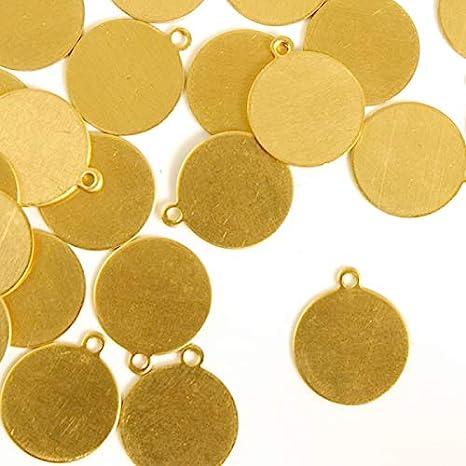 ImpressArt 1//2 Circle Jewelry Tag Premium Metal Stamping Blanks 24 Pieces, Copper