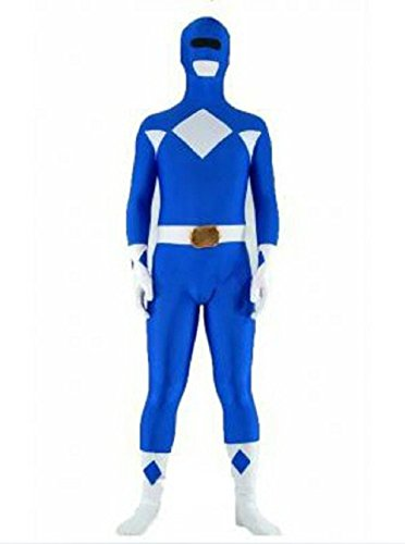 Riekinc Halloween Power Rangers Cosplay Blue Zentai Suit