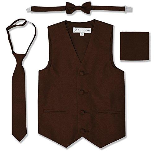 Nino Brown Suit (Johnnie Lene JL34 Boys Formal Tuxedo Vest Set (4/5,)