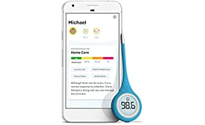 Kinsa Smart Thermometer for Fever - Digital Medical Baby, Kid and Adult Termometro - Accurate, Fast, FDA Cleared Thermometer for Oral, Armpit or Rectal Temperature Reading - QuickCare