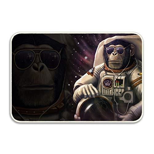 Ranhkdn Humorous Orangutan Astronaut Personalized Super Absorbent Anti-Slip Mat,Funny Doormat,Indoor/Outdoor Decor Rug Doormat18x30 inch Non-Slip Home Decor